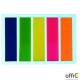 Zakładka indeksująca DATURA 45x12 5x25kartek neonowa prosta
