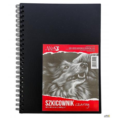 Szkicownik A4 140g 30kartek czarny KOH I NOOR BLO-SZA414-00104