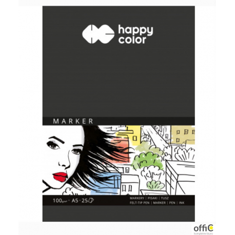 Blok do markerów art. A5, 100gram 25arkuszy HA 3710 1520-A25 HAPPY COLOR