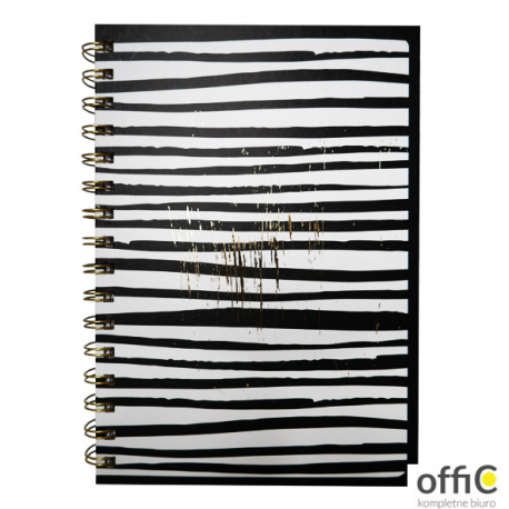 Kołonotes A5 80k. czarno białe paski INCOOD 0106-0059