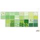 Blok z motywami GREEN A4 15ark. 30motyw,HAPPY COLOR HA3808 2030-G