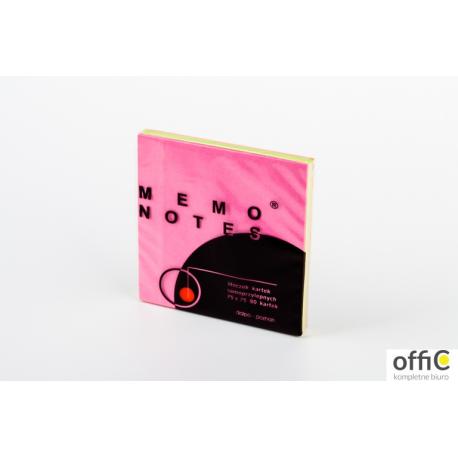 Notes MEMO 75*75 różowy intens 80k DALPO
