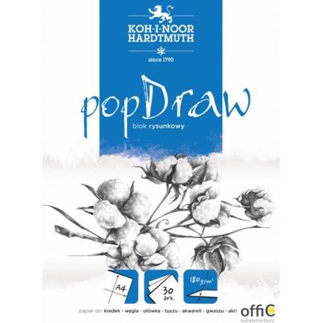 Blok rysunkowy POP DRAW A4 30 arkuszy 180g BLO-RYA4PO 9920/5