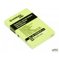 Karteczki samoprzylepne Donau Eco 100 kartek 51x76mm żółte