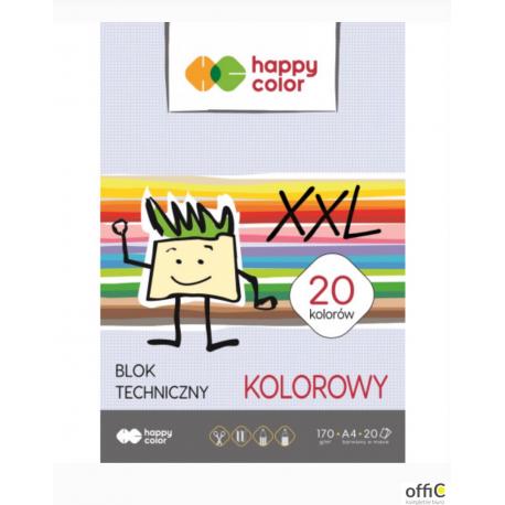 Blok tech.HAPPY COLOR kolor A4 170g 20ark. HA 3717 2030-09