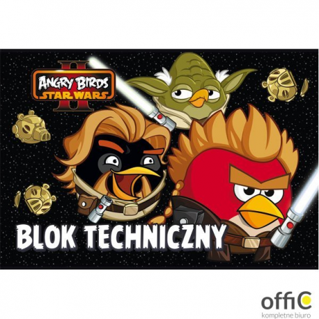 Blok technicz. A4 10k ANGRY BIRDS STAR WARS UNIPAP   0428