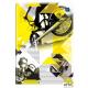Brulion A5 96k kratka mix wzorów twarda oprawa INTERDRUK