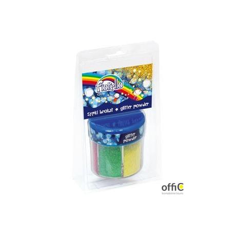 Sypki brokat FIORELLO 6 kolorów x60g w słoiczku (pastelowe) 170-2261