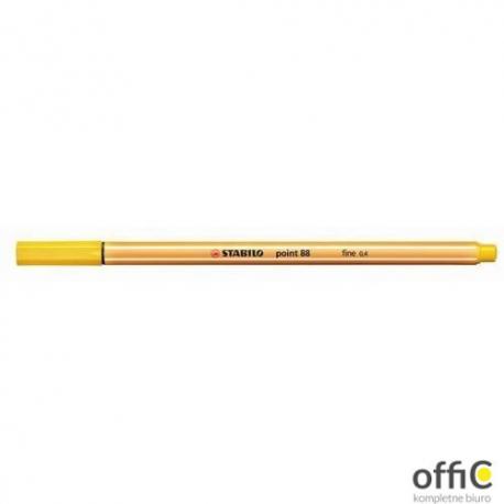 Cienkopis STABILO point 88 0.4mm żółty 88/44