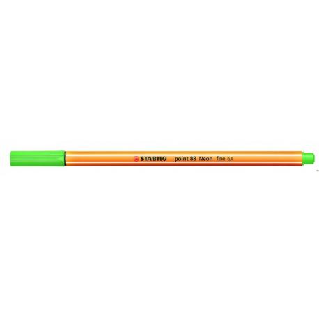 Cienkopis STABILO point 88/033 neonowy zielony