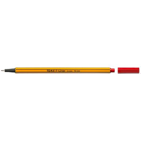 Cienkopis F-LINER 0.4  czerwony TOMA