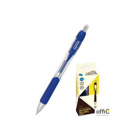 Długopis żelowy automatyczny GR-161 niebieski 160-1843 GRAND