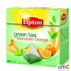 Herbata LIPTON PIRAMID GREEN TEA 20t zielona mandarynka pomarańcza