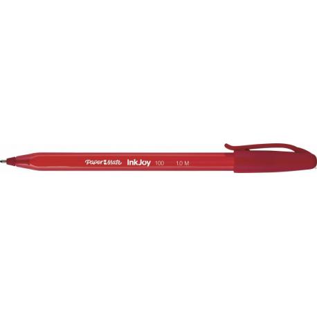 Długopis PAPER MATE INKJOY 100 CAP M czerwony S0957140