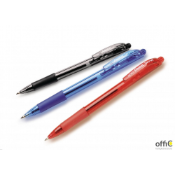 Długopis automatyczny WOW BK417/C niebieski PENTEL z gumowym uchwytem