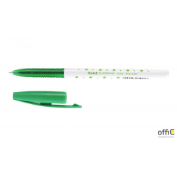 Długopis w gwiazdki SUPERFINE z supercienką końcówką, 0,5mm zielony TO-059 Toma