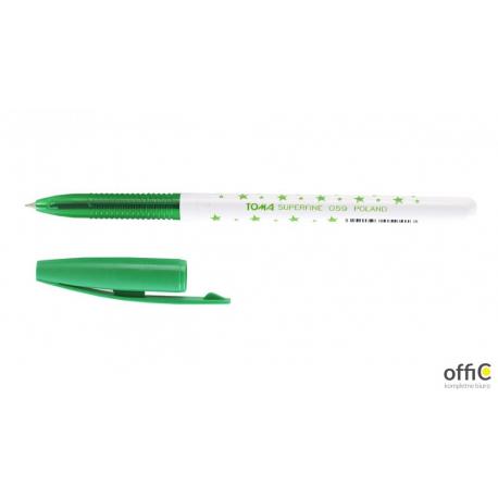 Długopis TO-059 S-FINE zielony TOMA GWIAZDKI