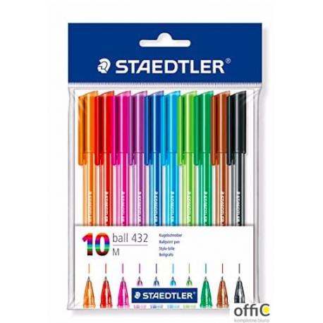 Długopis jednorazowy ball 432 M mix 10kol S 432 35MPB10 STEADLER