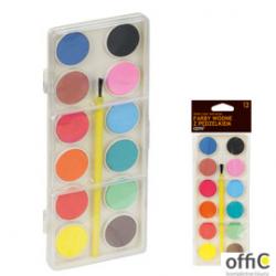 Farby wodne zestaw ekonomiczny, 12 kolorów FIORELLO 170-1551