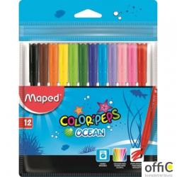 Flamastry COLORPEPS OCEAN 12 kolorów ETUI 845720 MAPED