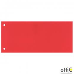 Przekładki 1/3 A4 Maxi Esselte, czerwony, 100 szt., 624446