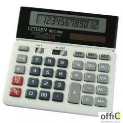 Kalkulator biurowy CITIZEN SDC-368, 12-cyfrowy, 152x152mm, czarno-biały