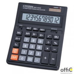 Kalkulator biurowy CITIZEN SDC-444S, 12-cyfrowy, 199x153mm, czarny