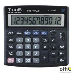 Kalkulator TOOR TR-2242, 12 pozycyjny, podwójna pamięć 120-1458