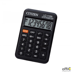 Kalkulator kieszonkowy CITIZEN LC110NR, 8-cyfrowy, 88x58mm, czarny