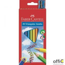 Kredki trójkątne FABER-CASTELL Junior Grip 20 kolorów 116520 FC