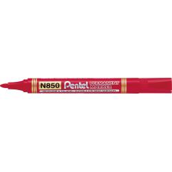 Marker permanentny N850 czerwony okrągła końcówka PENTEL