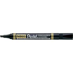 Marker permanentny N860 czarny ścięta końcówka PENTEL
