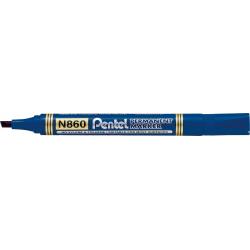 Marker permanentny N860 niebieski ścięta końcówka PENTEL