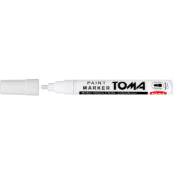 Marker olejowy, fibrowa końcówka 2,5mm, biały TO-440 Toma