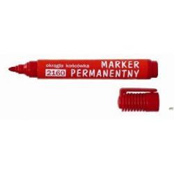 Marker D.RECT permanentny okrągły czerwony 2160 101112 LEVIATAN