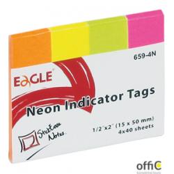 Notes samoprzylepny EAGLE 15×50 zakładka 659-4N Eagle