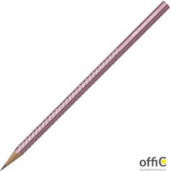 Ołówek SPARKLE B burgund metalizowany z krysz