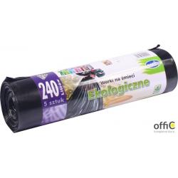Worki na śmieci 240l EKO LDPE (5szt.) czarne    WNS4201/16NOWA LUX STELLA