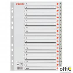 Przekładki plastikowe szare PP A4 A-Z alfabetyczne ESSELTE 100112