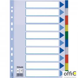 Przekładki plastikowe z PP A4 ESSELTE 10 kart 15261