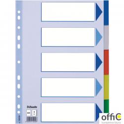 Przekładki plastikowe z PP A4 ESSELTE 5 kart 15259