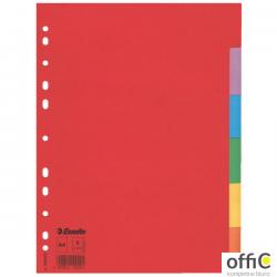 Przekładki karton A4 6 kart ESSELTE 100200 kolorowe bez karty opisowej