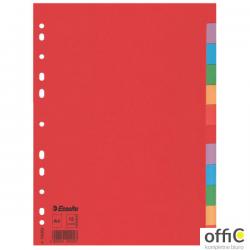 Przekładki karton A4 12 kart ESSELTE 100202 kolorowe bez karty opisowej