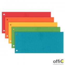 Przekładki do segregatora separatory 1/3 A4 kolorowe kartonowe Esselte 624450 (100 sztuk)