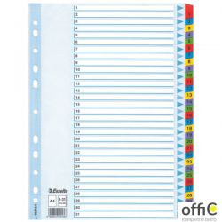 Przekładki kartonowe MYLAR A4 1-31 100164 białe ESSELTE