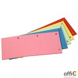 Przekładki kartonowe 1/3 A4 DOTTS/DATURA różowe 100sztuk