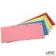 Przekładki kartonowe 1/3 A4 DATURA różowe 100sztuk