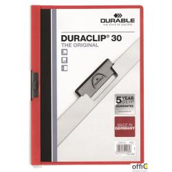 Skoroszyt DURABLE DURACLIP Original 30 czerwony 2200-03