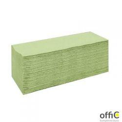 Ręczniki składane ZZ ESTETIC ECONOMIC zielone 4000składek CLIVER 2240