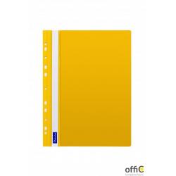 Skoroszyt DATURA A4 twardy zawieszany żółty (10szt)